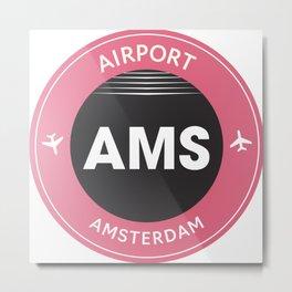AMS airport Metal Print