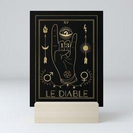 Le Diable or The Devil Tarot Gold Mini Art Print