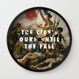 Eugène Delacroix, Liberty Leading the People (1830) / Halsey, New Americana (2015) Wall Clock