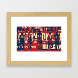USWNT Heroes (Morgan/Brian/O'Reilly/Van Hollebeke) Framed Art Print