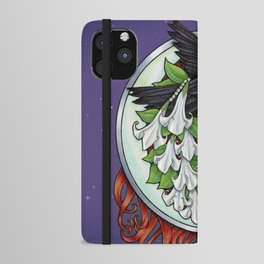 Moon Raven by Bobbie Berendson W iPhone Wallet Case