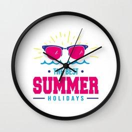 The Best Summer Holidays Wall Clock