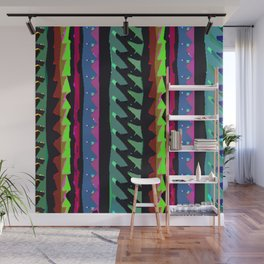 TROPICAL THUNDER 1980'S iNSPIRED MULTICOLOR PRINT Wall Mural