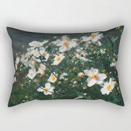 White and Gold Rectangular Pillow