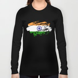 India Flag Tee Shirt Long Sleeve T-shirt