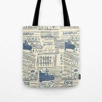 shoe Tote Bags featuring Shoe by Becca Hardingham
