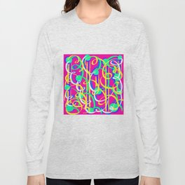 Streamer Celebrations on pink Long Sleeve T-shirt