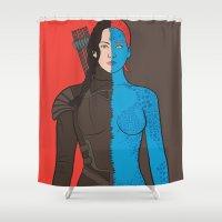 katniss Shower Curtains featuring Katniss-Mystique by richoz