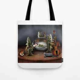 Bass Playing Bass Tote Bag