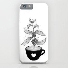 Coffee cup with Coffee plant iPhone Case
