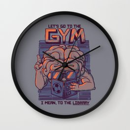 Let's go to the gym Wall Clock