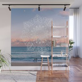 Twilight surf mandala Wall Mural