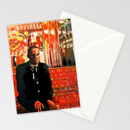 Malcolm X - On bended knee Portrait by Scott Richard Stationery Cards
