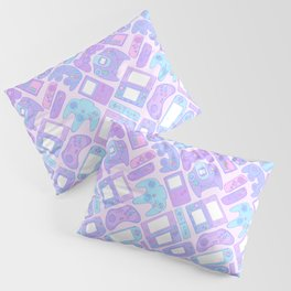 Video Game Controllers in Pastel Colors Pillow Sham