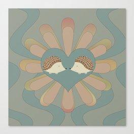 Hedge Hog Flower Power Canvas Print