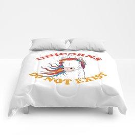 Unicorns do not exist Comforters