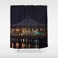 bridge Shower Curtains featuring Bridge by Genevieve Einwalter