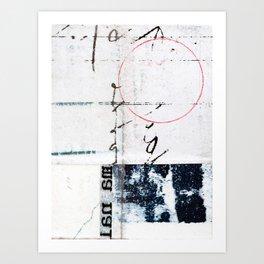 Circles and Quadrants Art Print