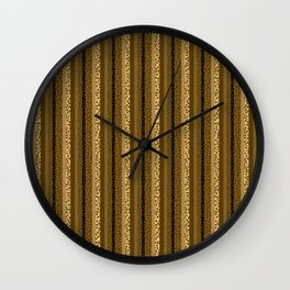 Bubbly Brown Striped Pattern Wall Clock