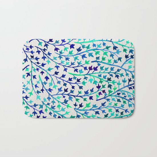 Turquoise Ivy Bath Mat