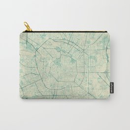 Milan Map Blue Vintage Carry-All Pouch