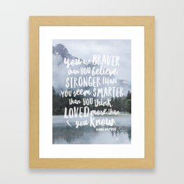 Loved More Than you Know Framed Art Print