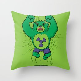 The Incredibear Hulk Throw Pillow