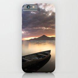 Mountain Sea Boat Landscape iPhone Case