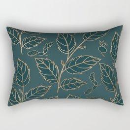 Botanical Pattern - Bronze N6 Rectangular Pillow