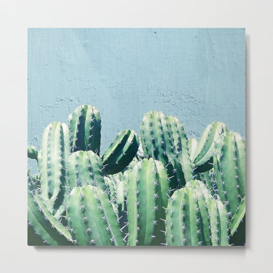 Cactus & Teal #society6 #decor #buyart Metal Print