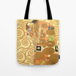 Lovers by Gustav Klimt 1909 // Cartoons for the Execution of a Frieze for the Dining Room of Stoclet Tote Bag