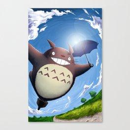 Totoro Summer Flight Canvas Print