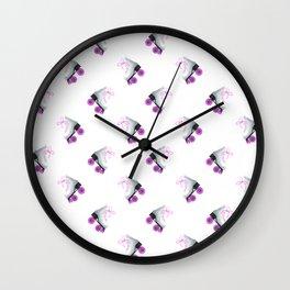 Retro Roller Skates Wall Clock