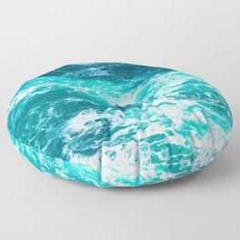 Marble Ocean - Ocean Photography Floor Pillow