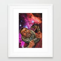 anaconda Framed Art Prints featuring My anaconda don't want none by Cannibal Hippo