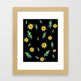 Succulents and Sun Framed Art Print