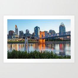 Cincinnati Skyline View Art Print
