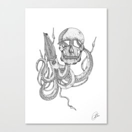 octopus skull Canvas Print