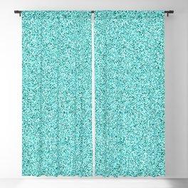 Retro Blue Pattern Blackout Curtain