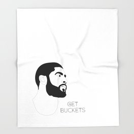 Kyrie Gets Buckets Throw Blanket
