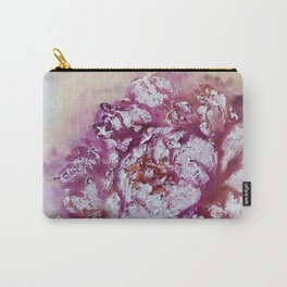 A delicate pink peony with gold. The author's abstraction with a peony. A blooming peony bud.  Carry-All Pouch