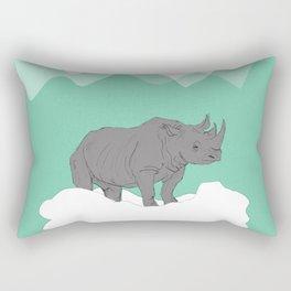 Floating Rhino Rectangular Pillow