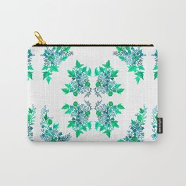 Blue Coralline Flowers Carry-All Pouch