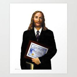 """JESUS      """"The Planet Earth Awards, Beyond Superstition"""" Art Print"""
