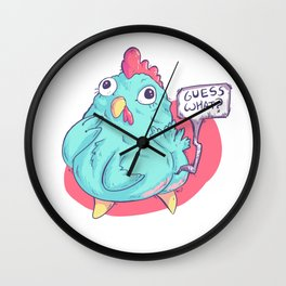Guess What Chicken Butt Wall Clock