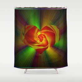 Abstract in perfection - Rose Shower Curtain