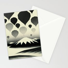 Morning wind balloons Stationery Cards
