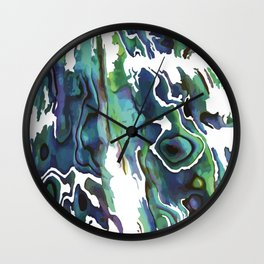 Marble Paua Wall Clock