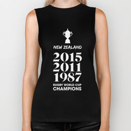 New Zealand Treble Rugby World Cup Champions Biker Tank