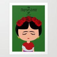 frida kahlo Art Prints featuring Frida Kahlo by Creo tu mundo